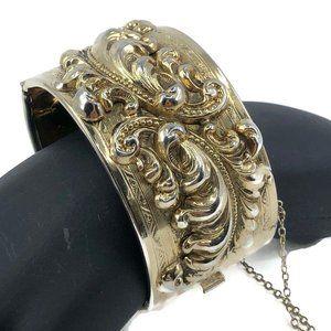 Vintage Gold Tone Art Nouveau Revival Bracelet